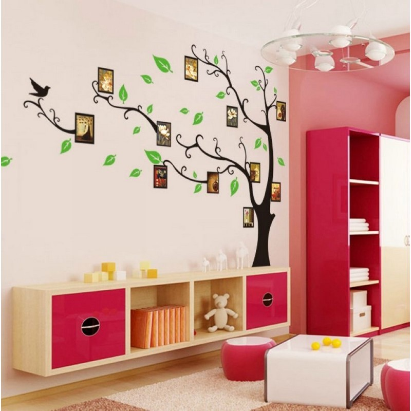 sticker arbre porte cadres pas cher stickers nature discount stickers muraux madeco stickers. Black Bedroom Furniture Sets. Home Design Ideas
