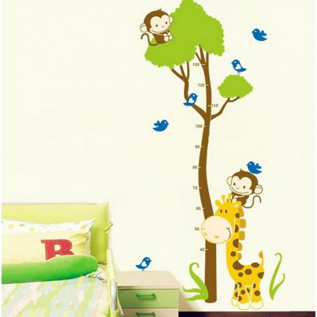 Tree and monkey kidmeter wall decal