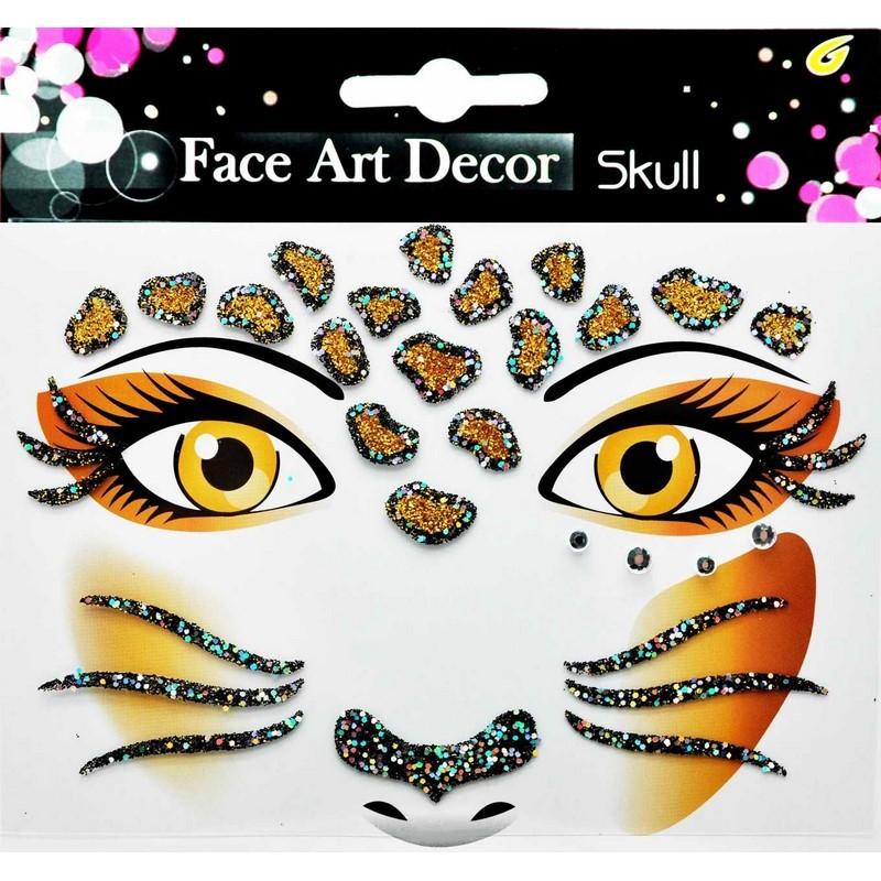 sticker pour visage lionne pas cher stickers muraux discount stickers muraux madeco stickers. Black Bedroom Furniture Sets. Home Design Ideas