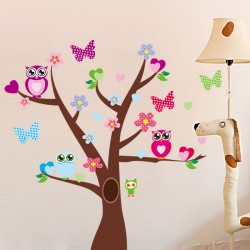 Tree and butterflies on a tree wall decal