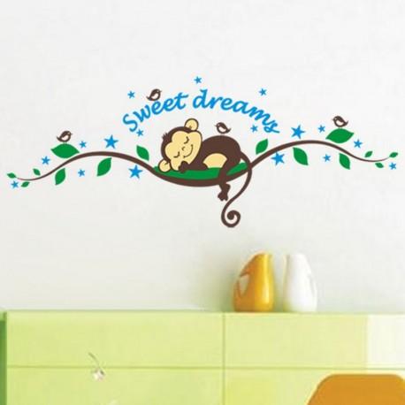 Monkeys Sweet dreams wall decal