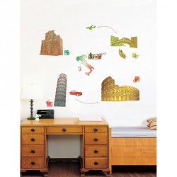 Italy and Rome's Colloseum wall decal