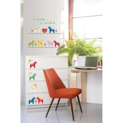 Small Colorful Horses wall decal