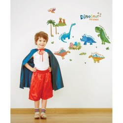 Small Colorful Dinosaurs wall decal