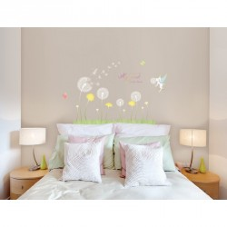 Dandelion and little fairy wall decal