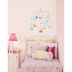 Sustended animals baby wall decals