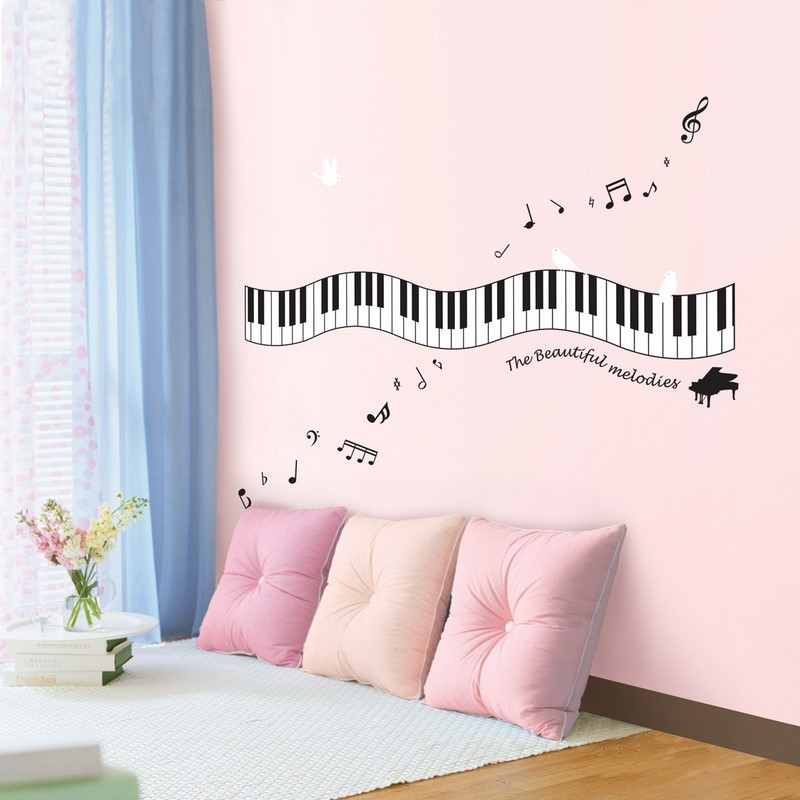 Piano Melody Cheap Stickers Music Discount Wall Stickers