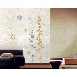Elegant sand and grey trees wall decals