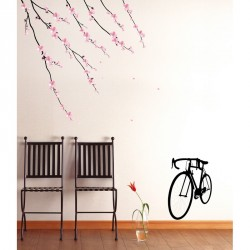 Flowers and bicycle sticker