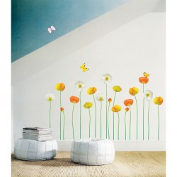 Fine and elegant flowers garden wall decals