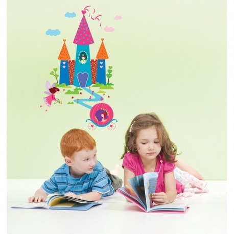 Castle and princess decal