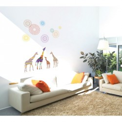 Giraffes and stars wall decals