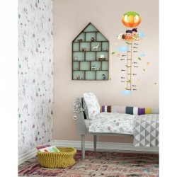 Balloon and kids kidmeter wall decal