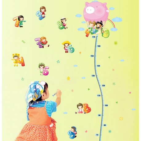 Balloons and number kidmeters wall decal