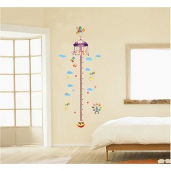 Carousel and balloons kidmeter wall decal