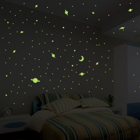 Universe Wall decals - 150 glow in the dark stars and planets stickers