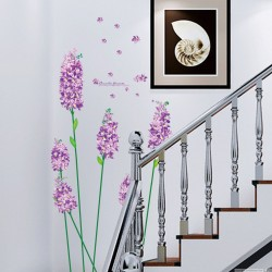 Iris purple romantic flowers wall decal