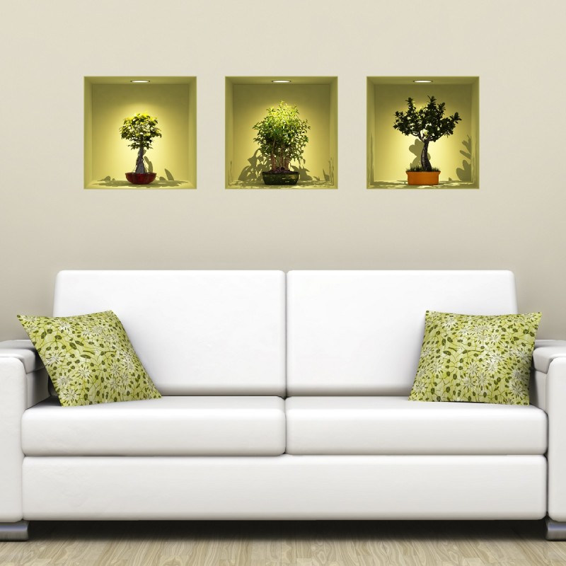 D Effect Wall Decal Black Statues BellakKoola Bellakoola Colored - 3d effect wall decals