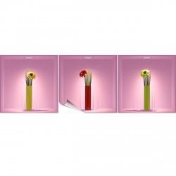 Stickers à effet 3D Fleurs et vases