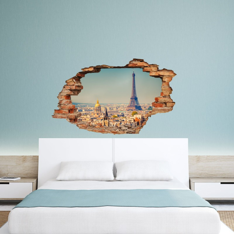 Wall Decal D Effect Paris Cheap Stickers D Discount Wall - 3d effect wall decals