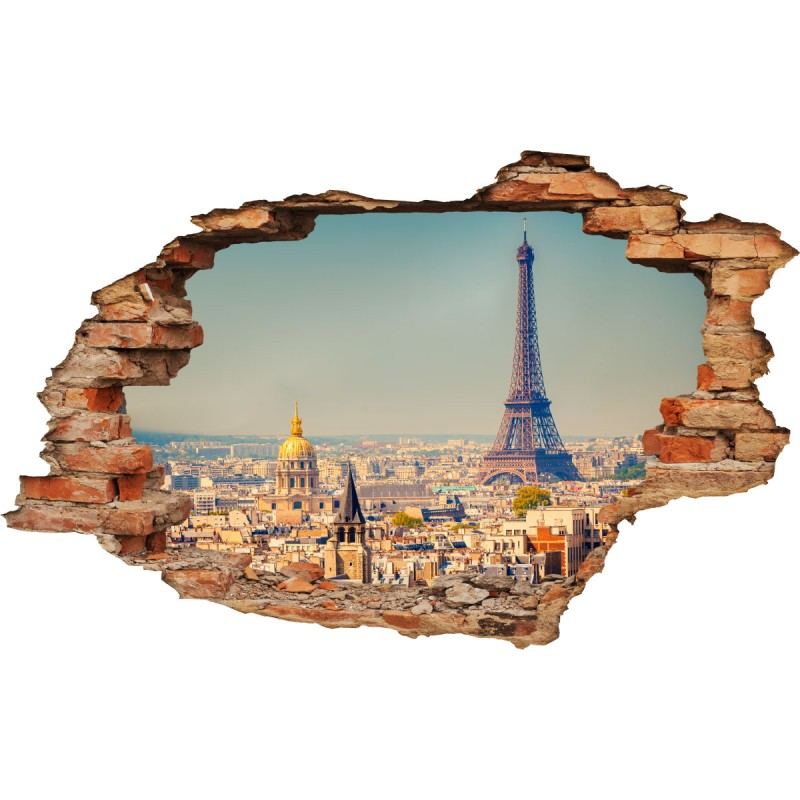 wall decal 3d effect paris cheap stickers 3d discount 3d stickers for walls
