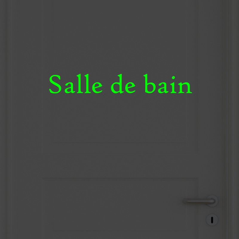 musique salle de bain lot de 2 stickers portes salle de bain et toilettes phosphorescent. Black Bedroom Furniture Sets. Home Design Ideas