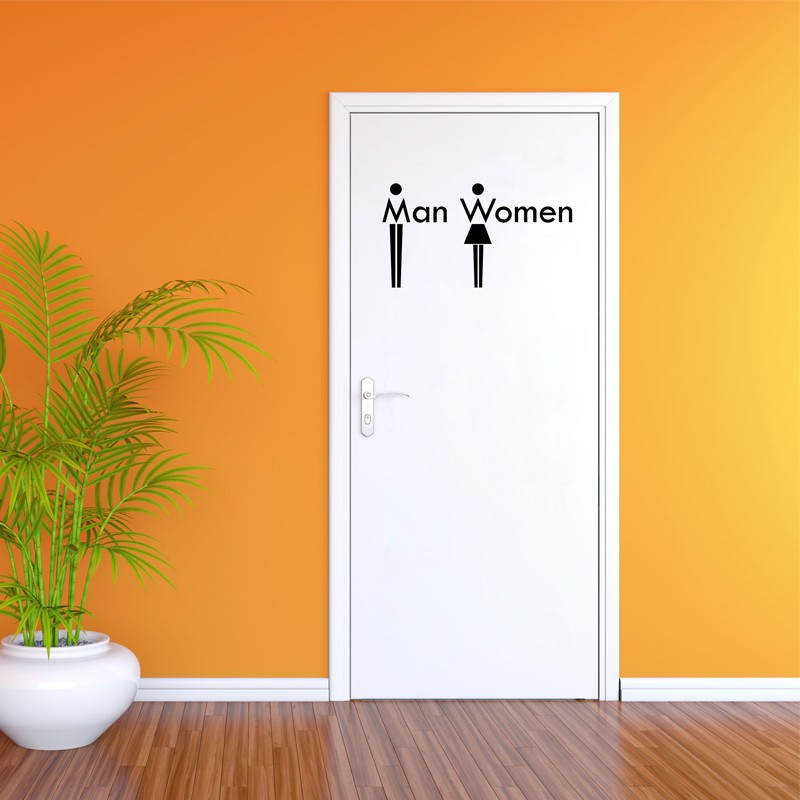 Sticker wc man women cheap stickers bathroom discount wall stickers madeco stickers - Model deco wc ...