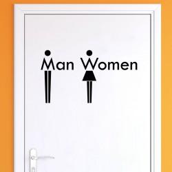 Sticker WC Man & Women