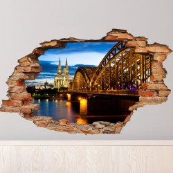 Wall decal Landscape View Barcelona
