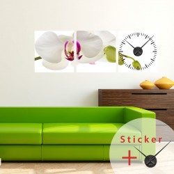 Clock Wall decal Orchid