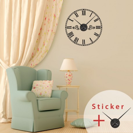 Clock wall decals with Roman numbers  sc 1 st  Madeco-stickers & Clock wall decals with Roman numbers cheap - Stickers Abstract ...