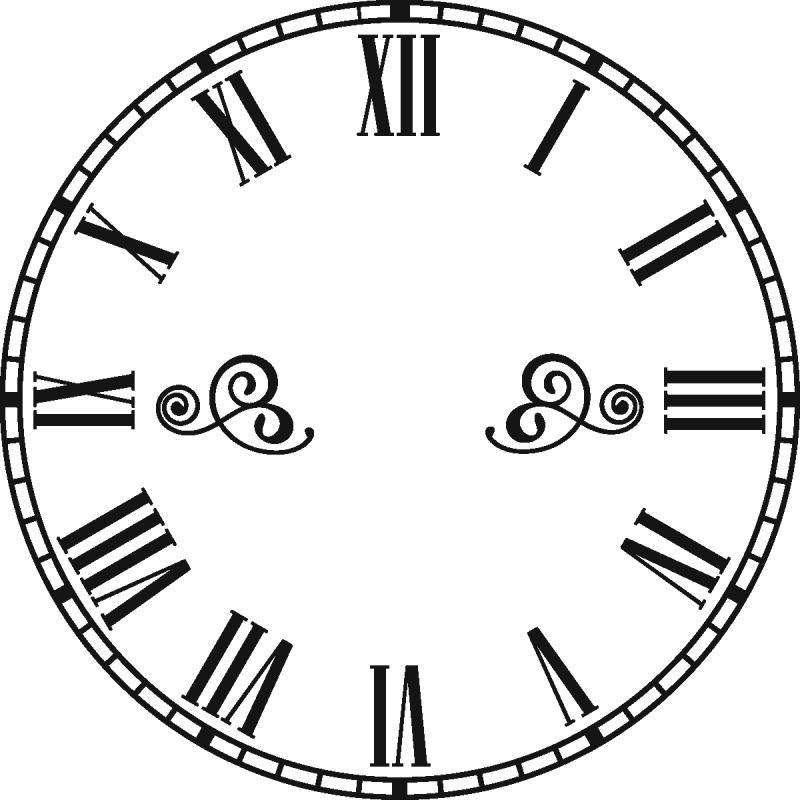 Sticker horloge avec chiffres romains pas cher stickers - Tabouret transparent pas cher ...