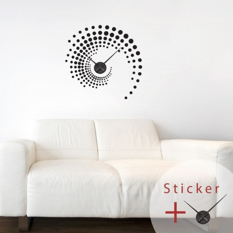 Sticker Horloge Spirale Pas Cher Stickers Abstraits Discount