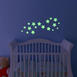 Sticker étoiles phosphorescentes