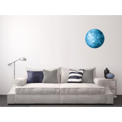 Sticker Terre phosphorescente bleue