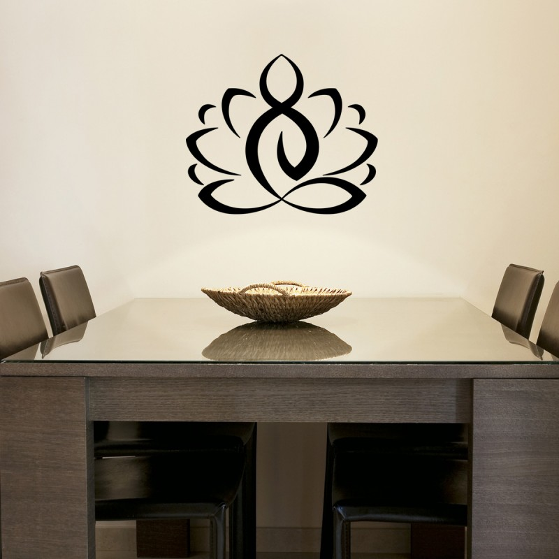 wall decal zen lotus cheap stickers nature discount. Black Bedroom Furniture Sets. Home Design Ideas