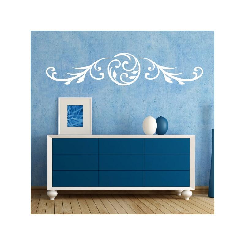 sticker floral design t te de lit horizontal pas cher stickers design discount stickers. Black Bedroom Furniture Sets. Home Design Ideas