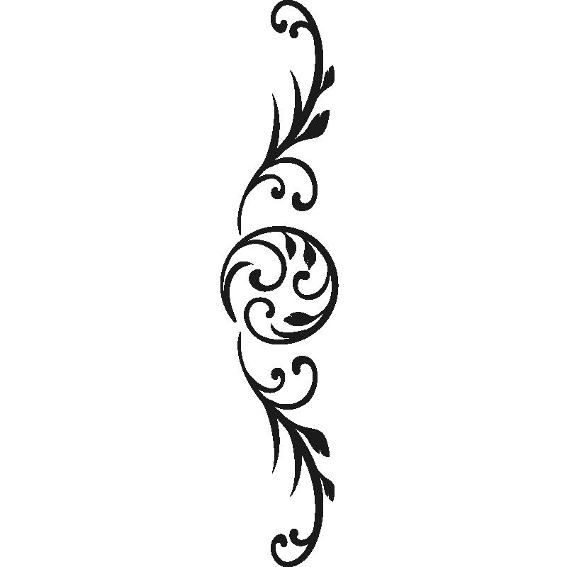Sticker Floral design tête de lit horizontal pas cher