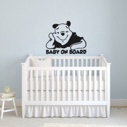 Wall decal Baby on board - black