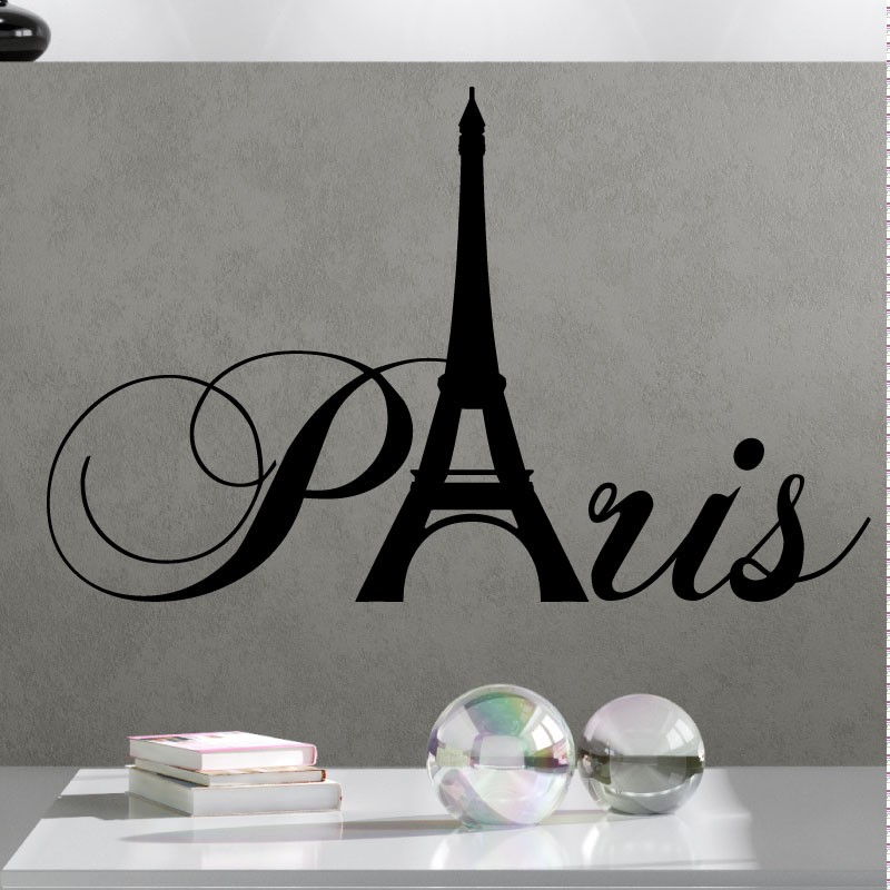 Sticker paris avec la tour eiffel pas cher stickers for Stickers tour eiffel chambre