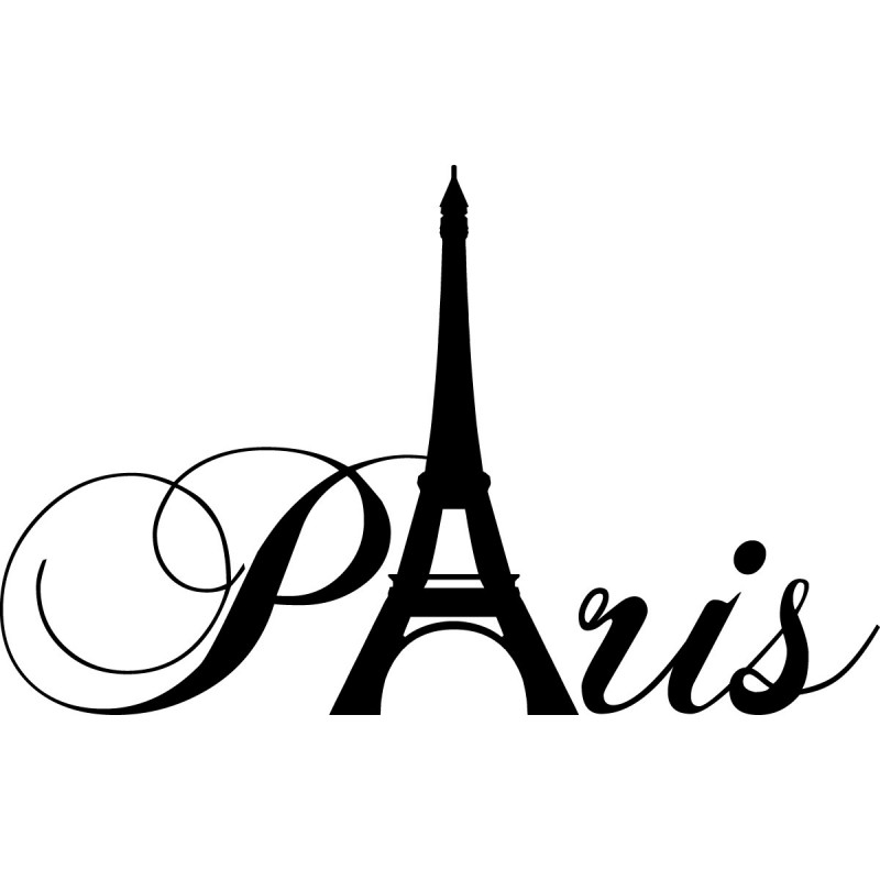 wall decal paris with eiffel tower cheap stickers world discount wall stickers madeco stickers. Black Bedroom Furniture Sets. Home Design Ideas
