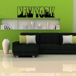 Wall decal New York letter frame