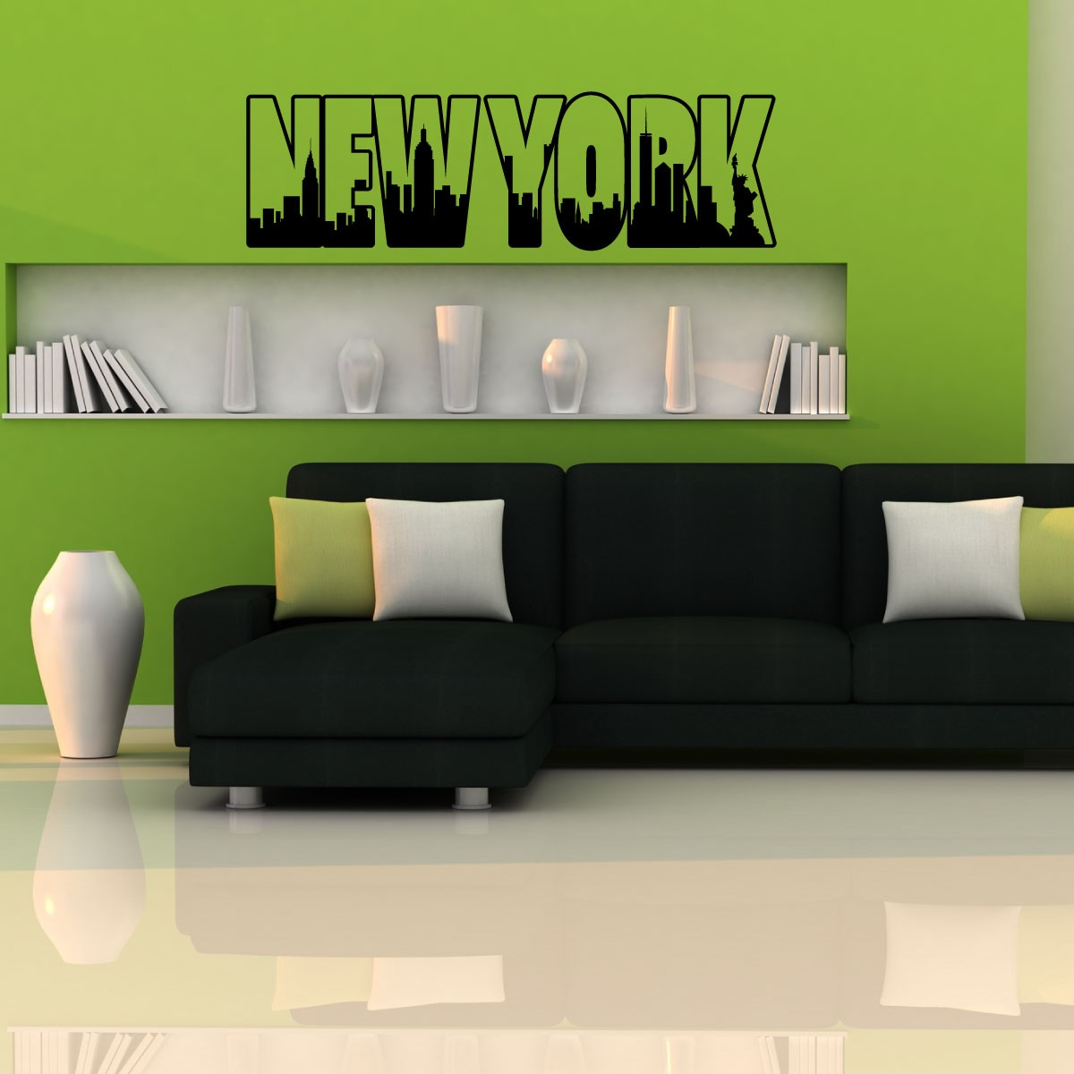 Wall decal new york letter frame cheap stickers world discount - Tete De Lit Orientale Stickers Wall Decal New York Letter Frame Cheap Stickers World Discount