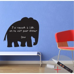 Elephant blackboard sticker + 1 white liquid chalk