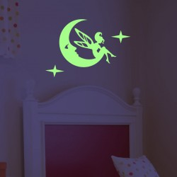 Wall decal fairy on the moon