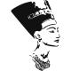 Head Sticker Egyptian - Nefertiti