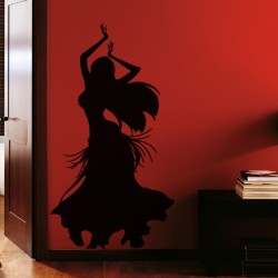 Sticker Silhouette danseuse orientale