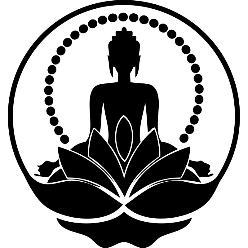 Download image Buddha Silhouette PC, Android, iPhone and iPad