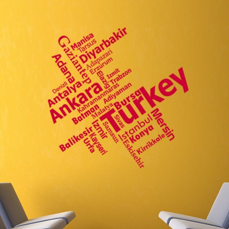 Sticker Turkey - madeco-stickers, boutique en ligne de stickers muraux pas cher !