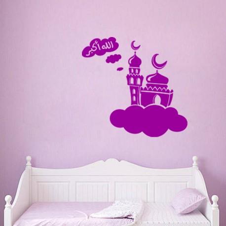 Sticker Un palais sur un nuage nocturne